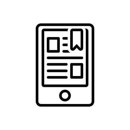 Icon for ereader,bookmark Ilustrace