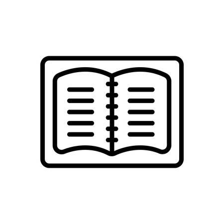 Icon for notebook,student notes Ilustração