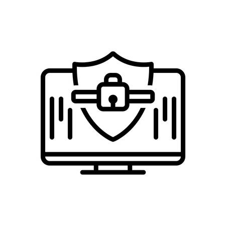 Icon for computer security,computer,security