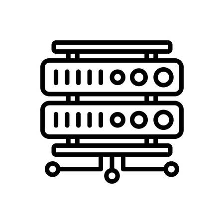Icon for rackmount server,datacenter,website