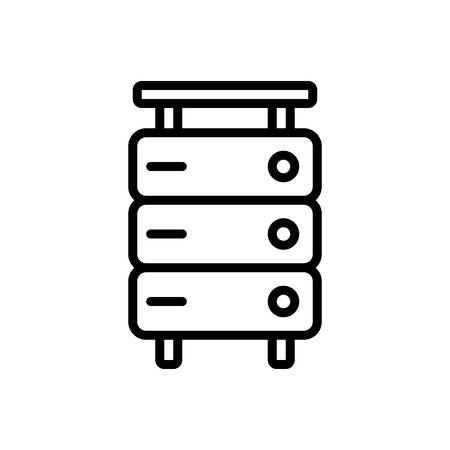 Icon for storage,database interconnected 일러스트