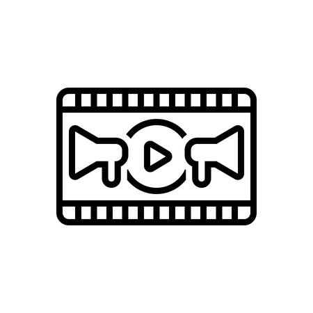 Icon for video marketing,video