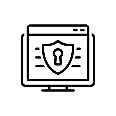 Icon for web security,web,security Çizim