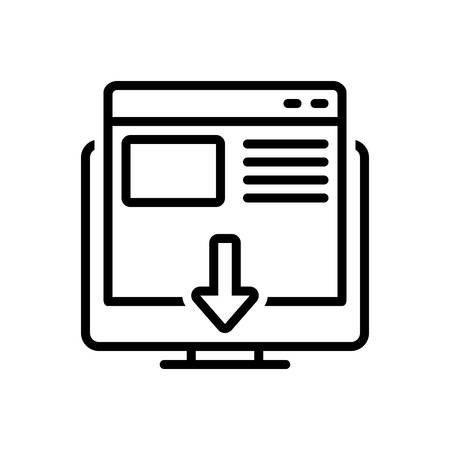 Icon for landing page,landing,page