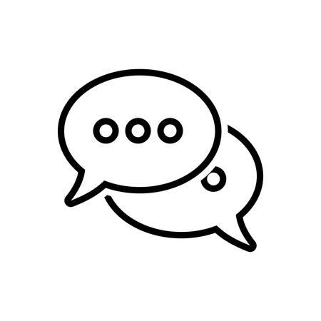 Symbol für Sprechblasen, reden, sprechen, chatten Vektorgrafik