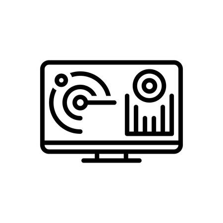 Icon for monitoring,automatice Illustration