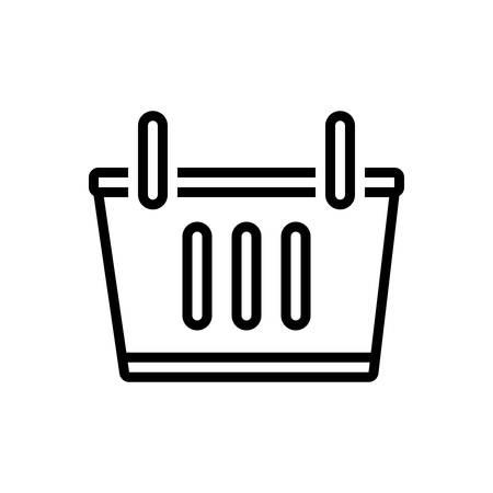 Icon for shopping basket,shopping,basket Ilustração