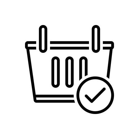 Icon for checkout,shopping basket,shopping
