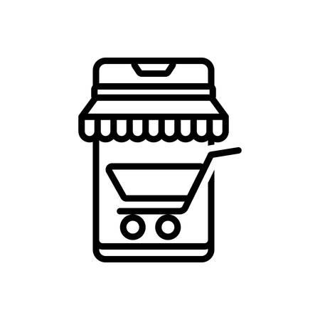 Icon for mobile shopping,mobile