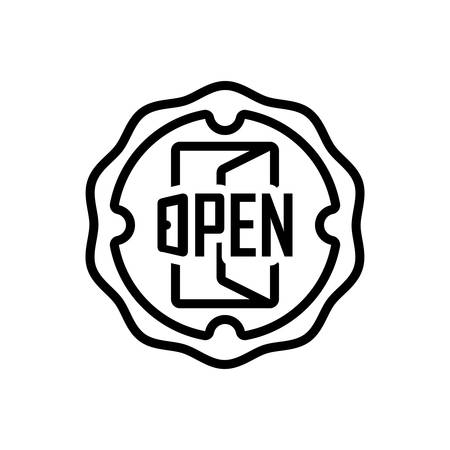 Icon for open,sign,store