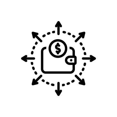 Icono de gasto presupuestario, presupuesto