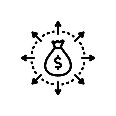 Icon for budget spending,budget