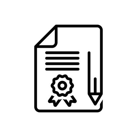 Icon for legal documents,legal Illustration