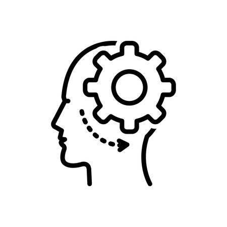 Icon for brain process,brain,process Ilustração