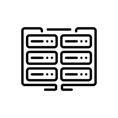 Icono de datos, cifrado de datos, cifrado Ilustración de vector