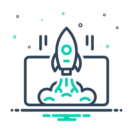 Icon for startup launch,startup,launch,project Ilustrace