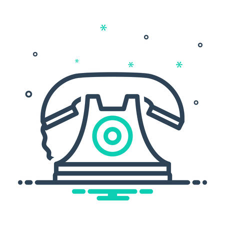 Icon for telephone,communication