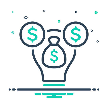 Icon for venture capital,venture Stock Illustratie
