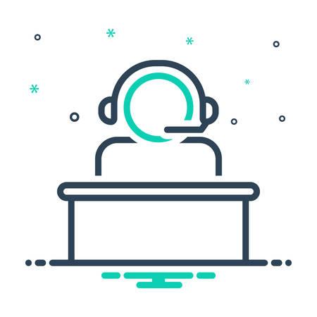 Icon for call center operator,call,center,operator
