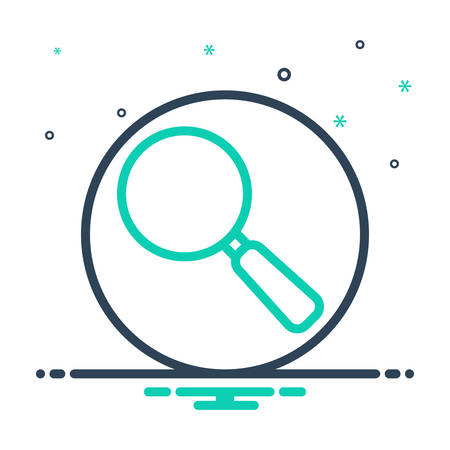 Icon for magnifying glass,magnifying Ilustrace