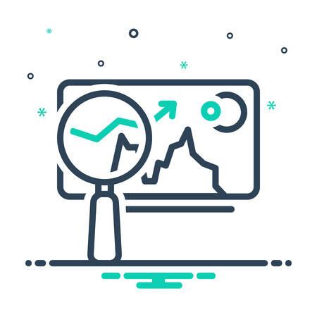 Icon for market analysis,market,trend