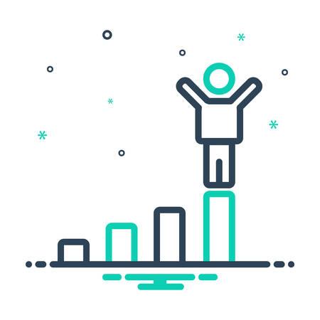 Icon for success,prosperity Ilustrace