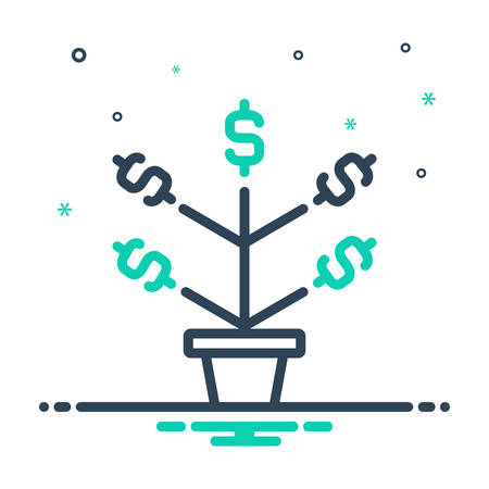 Icon for growth,evolution,increase 向量圖像