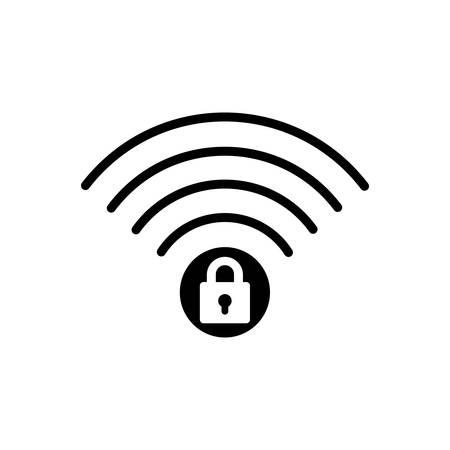 Wifi security icon Ilustracja
