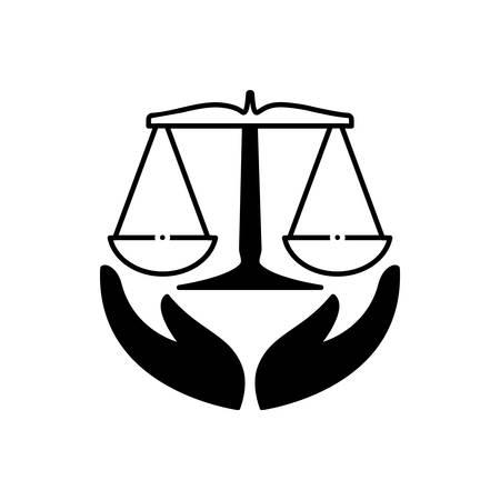 Law insurance icon Standard-Bild - 132113119