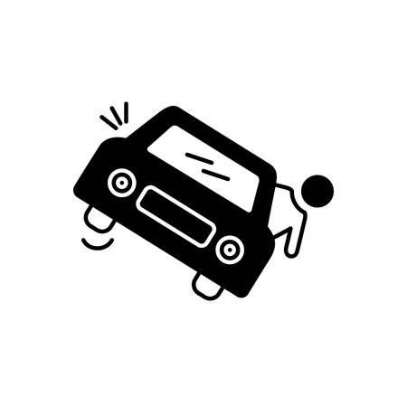 Accedental death icon Иллюстрация