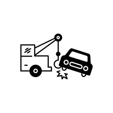 Car towing  icon Banque d'images - 132113131