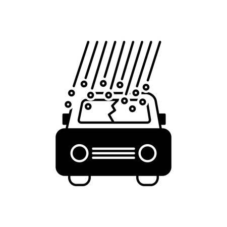 Hail damage icon Ilustrace