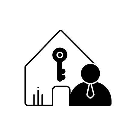 Landlord insurance icon Ilustração