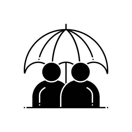 Permanent life insurance icon Illusztráció