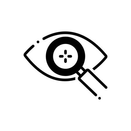 Eye detect icon Vector Illustration