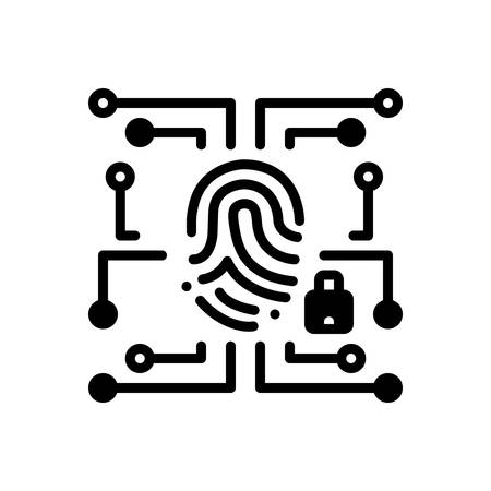 Biometric data security  icon Çizim