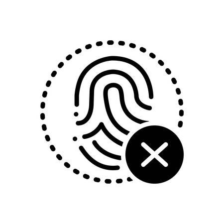 Fingerprint cancelation icon