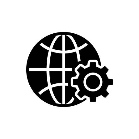 Web development icon Illustration