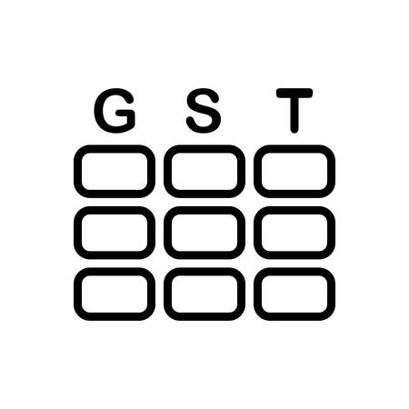 Icon for gst, taxation
