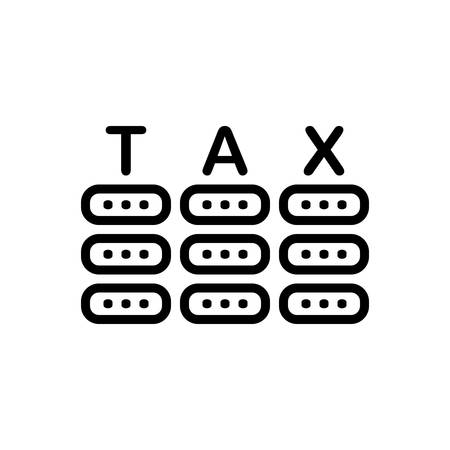 Icon for tax ,business