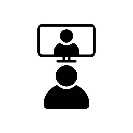 Video conference icon Vectores