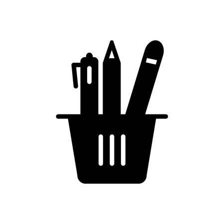 Pencil stand icon