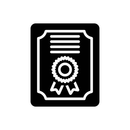 Certificate icon Иллюстрация
