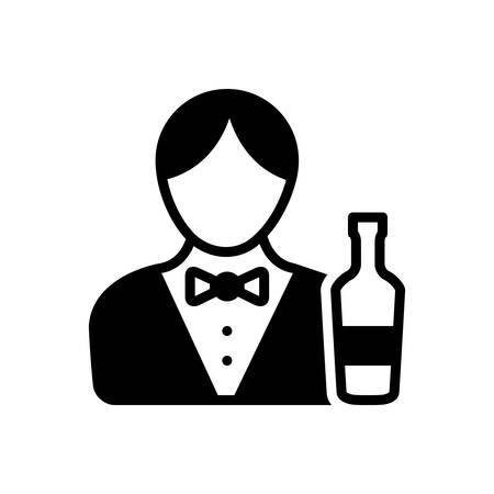 Bartender icon Иллюстрация