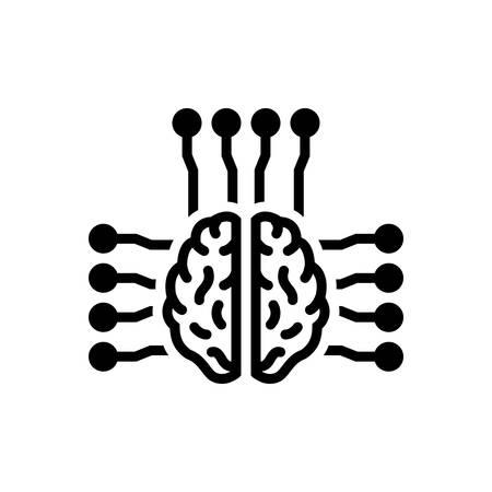 Smart brain icon 일러스트