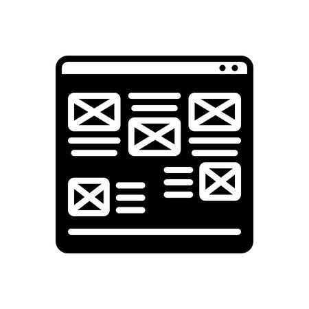 Website icon Иллюстрация