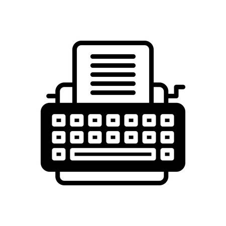 Typewriter icon Banque d'images - 133738052