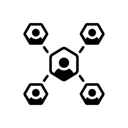 Affiliate communication icon Ilustração