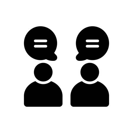 Discussion icon Ilustracja
