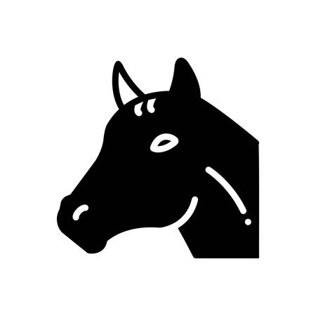 Icon for horse, face Ilustracja